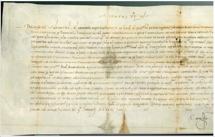 Breve di Clemente VII, 1527jpg