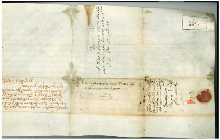 AGOC, Diplomatico, I Extra 1527, 1.jpg